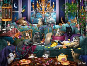 "Buffalo Games - Cats: Quarantine Cats - 750 Piece Jigsaw Puzzle 24"" x 18"""