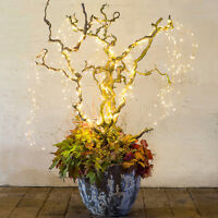 Christmas Lights Battery-Operated Vine Branch Copper Wire Light LED Starry Light