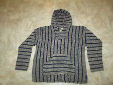 Rare BAJA JOE Mexican Hoodie Rug Pullover Hooded Sweatshirt Men's Size Medium