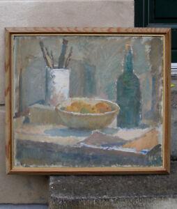 Holger Silldorff (1889)  Fine Studio Still Life. 1940s. Classic Danish Modernism