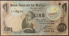 1979 ~ MALTA ~ 1 LIRA ~ BANKNOTES OF ALL NATIONS ~ UNC