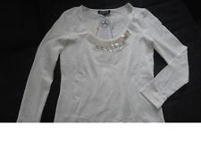 Damen Shirt Bluse in Creme-Weiß von Ricarda M. Stretch Gr 36/38 Neu