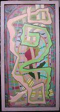 PETER KRASNOW K.-12, 1961 OIL ON BOARD 30 X 15 SIGNED, ORIG ARTIST-MADE FRAME