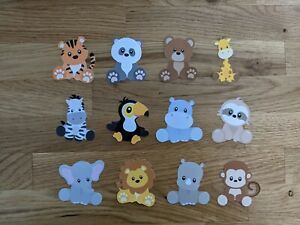 Safari Animal Party Celebration Cupcake Toppers / Card Decoration / Crafts