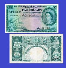 British Caribbean Territories 5 dollars 1953 Reproduction UNC