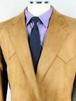 46L NWOT Circle S Dallas Mens Western Wear 2 Button Blazer Sport Coat Jacket Tan