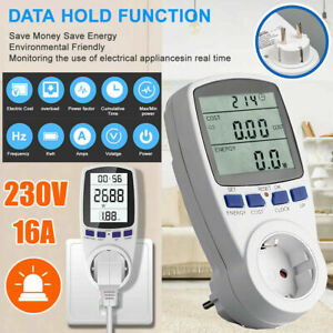 EU LCD Wattmètre numérique Compteur d'énergie électrique mètre Prise de mesure