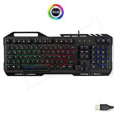 Gaming PC Tastatur Metallgehäuse LED RGB Beleuchtung USB Metalldesign Xbox & PS4