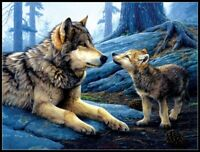 Brother Wolf - Chart Counted Cross Stitch Pattern Needlework Xstitch craft DIY