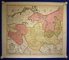 BRANDENBURG/ MECKLENBURG schöne kolorierte Landkarte 1681 - Original!!