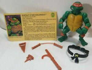 VERY NICE VINTAGE MICHELANGELO Teenage Mutant Ninja Turtles TMNT MIKE 1988