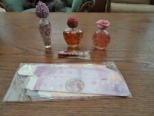 LOT 3 FLACONS DE PARFUM ATLAS FLOWER FAIRIES + LIVRETS + BOITES  - NEUF