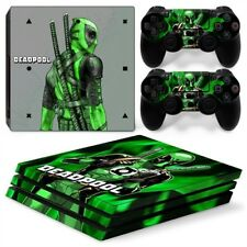 Dead Pool Green PS4 Pro Protective Skin Stickers Console & 2 Controllers - #0033