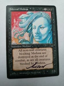 Infernal Medusa Legends Ed Signed by Anson Maddocks Magic the Gathering