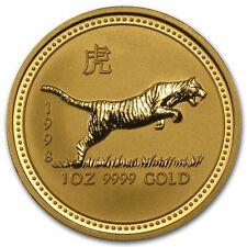 1998 1 oz Gold Lunar Year of the Tiger BU (Series I) - SKU #8998