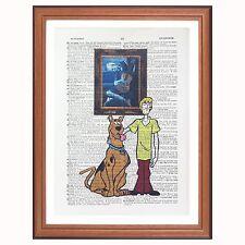 SCOOBY DOO VS Van Gogh-Notte stellata-pagina di dizionario ART PRINT Gift