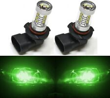 LED 80W 9005 HB3 Green Two Bulbs Head Light High Beam Replace Off Road Show