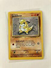 Pokemon 1999 English Sandshrew 62/102 Base Nintendo Wizards WotC Vtg Tcg card �