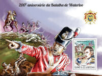 Guinea-Bissau Military Stamps 2015 MNH Battle of Waterloo Napoleon 1v S/S