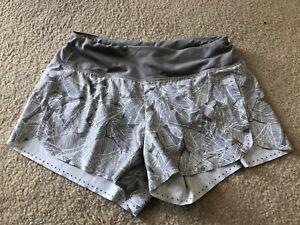 Athleta Gray Pattern running shorts Size XS