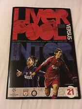 Liverpool V INTER MILAN CHAMPIONS LEAGUE programma