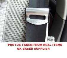 2Pcs AUDI SILVER Car Seat Belt Strap Adjuster Stopper Buckle comfort clips