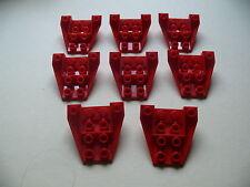 Lego 8 petits cockpits rouges set 5591 6388 6351 6657 / 8 red wedge inverted