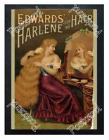 Historic Edward's Harlene for the Hair, c.1900 Advertising Postcard