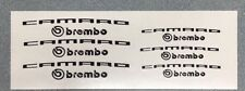 Camaro Brembo Brake Caliper High Temp Vinyl Decal Sticker 4x (ANY COLOR)