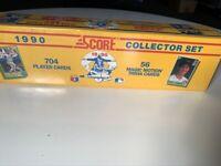 3 1990 Score Baseball Factory Sealed Mint Sets (714) Bo Jackson B&W F. Thomas RC