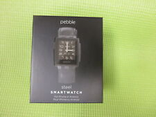 Pebble Steel Smartwatch Black Matte For iPhone Or Android 401BLR - New !!