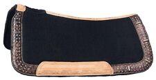 """Western Saddle Pad Blanket - Remington Bling - Wool Contoured - 28"""" x 30"""""""