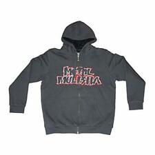 METAL MULISHA MEN'S THROWBACK SHERPA JACKET ZIP-UP W/HOOD