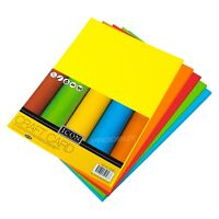 50 Mixed Colour A4 160gsm Craft Card Sheets Artists Blank Cardmaking Decoupage