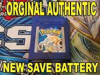 ORIGINAL AUTHENTIC Pokemon Blue Version w/ New Save Battery Nintendo Gameboy