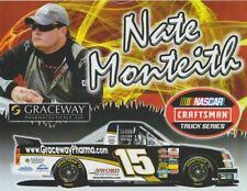2009 Nate Monteith Graceway Pharmaceuticals Toyota Bristol NASCAR CWTS postcard
