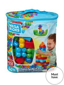 Mega Bloks First Builders 60 Piece Bag in Blue