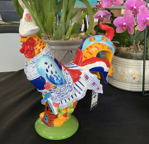 """Poultry In Motion """"Lets Go Dutch"""" Sharon Neuhaus/Westland Giftware Rooster 16719"""