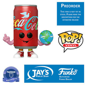 Funko Pop Coca Cola Can Id Like to Buy a World a Coke PopShield Preorder