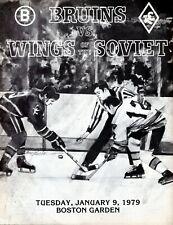 Jan 9, 1979 Boston Bruins & Wings of the Soviet Program Bobby Orr Night