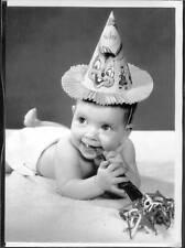 Carte de voeux blanc et noir style vintage pour anniversaire  12 cm x 17 cm