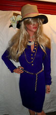 Stunning ST JOHN Collection Cobalt Dress sz6 Santana Knit EUC ooohh la la!!L@@K!