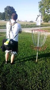Frisbee Golf adjustable back saving DISC/puck bag backpack straps!