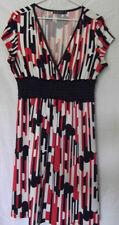 VOK Australia Womens Dress Red/Black/White Size 10