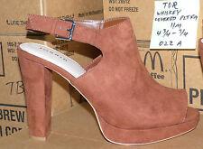 "size 11 W wide Torrid WHISKEY COVERED PLATFORM sandals 4-3/4"" heel - 022a11"