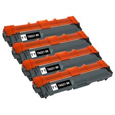 4 Pack TN221 Black Toner Cartridge for Brother HL-3170CDW MFC-9130CW MFC-9340CDW