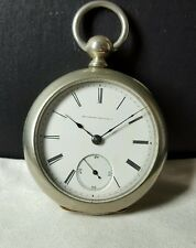 ILLINOIS WATCH CO. POCKET WATCH SERIAL#121914 ANTIQUE SILVERROID CASE SIZE 18S