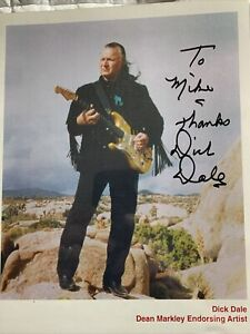 Dick Dale  Signed Color glossy photographic image