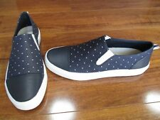 NEW ED By Ellen Degeneres Darja Slip On Sneakers WOMENS 7.5 Blue Polka Dots $69.