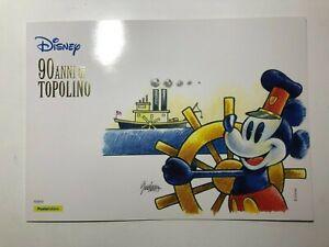 2017 Poste Italiane Folder Filatelico 90 Anni di Topolino Mickey Mouse Disney
